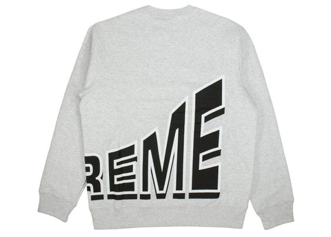 Supreme Side Arc crewneck grey