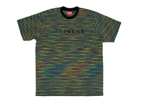 Supreme Static Stripe Top Black