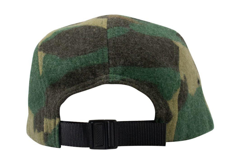 Supreme Wool Camo Camp Cap Green