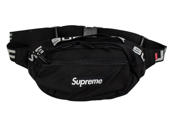 supreme waist bag black ss 2018