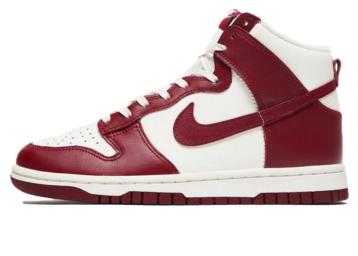 Nike Dunk High Sail Team Red (W)