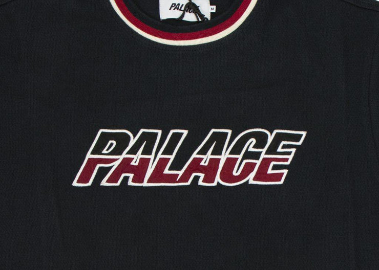 palace-split handle t shirt black