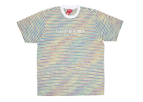 Supreme Static Stripe Top White