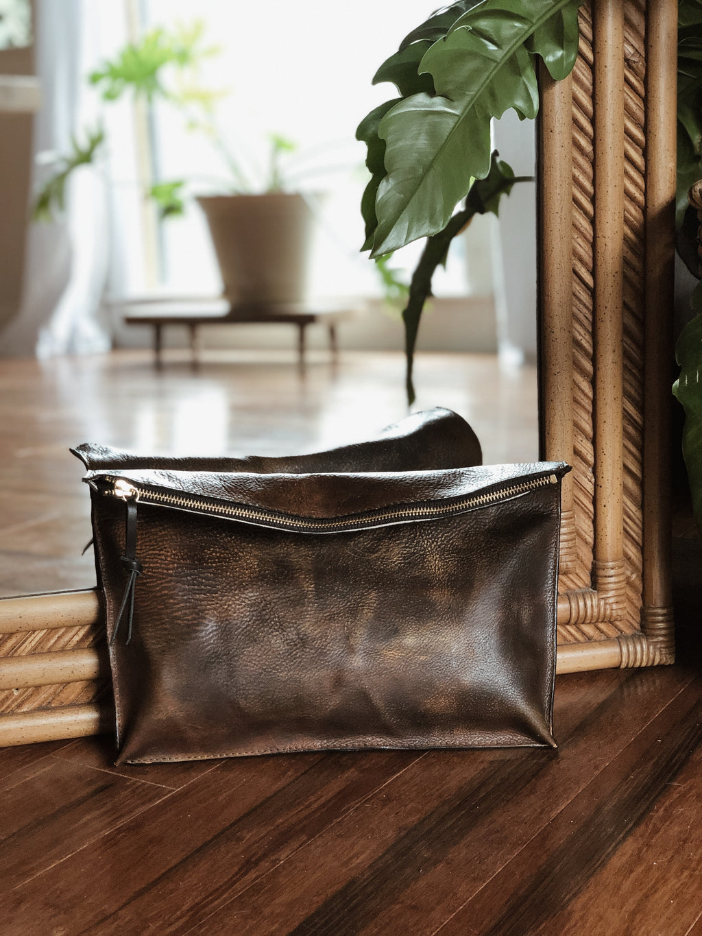 Patina Dream Hand Painted Clutch