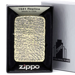 Zippo Lighter 1941 Replica 5-sides Design Hammer Tone Brass Old Finish