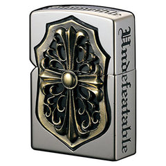 Zippo Lighter Full Metal Jacket Gorgon Gold Cross Inlay Deluxe Design
