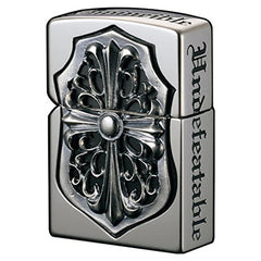 Zippo Lighter Full Metal Jacket Gorgon Silver Cross Inlay Deluxe Design