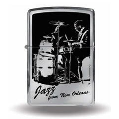 Zippo Lighter JAZZ from New Orleans. Drums