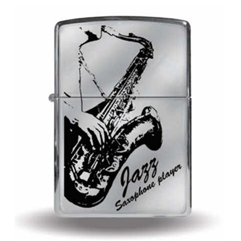 Zippo Lighter JAZZ Saxophone Player