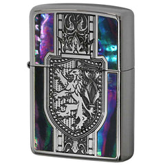 Zippo Lighter Shell Inlay Crest Lion Design SV