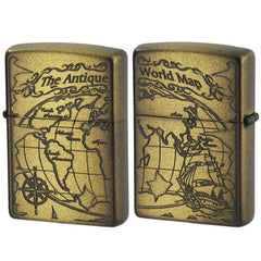 Zippo Lighter Antique World Map Both Sides Design 2WM-VBI