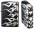 Zippo Lighter Tribal Black Silver Tatoo 4 Sides Design TRSV7