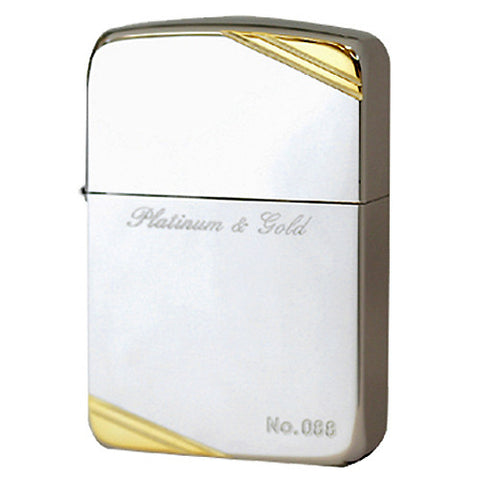 Zippo Lighter 1941 Replica Platinum & Gold plating Mirror Finish LTD