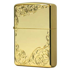 Zippo Zippo Hand Carving Arabesque Design K24 Gold Plating