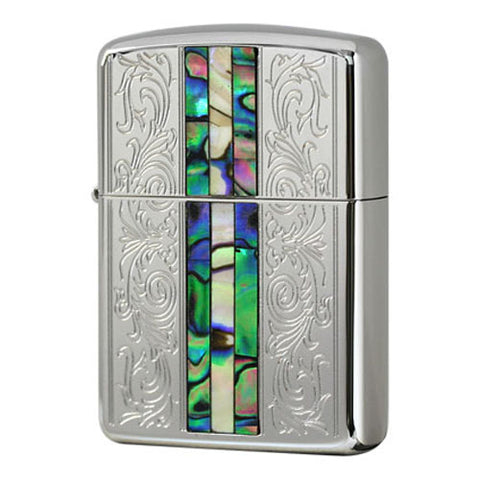 Armor Japan Zippo Lighter Shell Inlay Both Sides Classic Design
