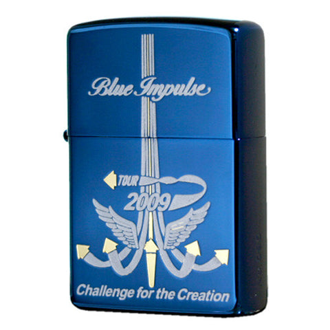 Zippo Lighter JASDF Air Force Blue Impulse 2009 Tour Emblem