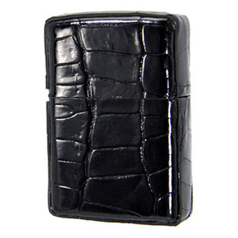 Zippo Lighter Genuine Crocodile Leather Wrapped