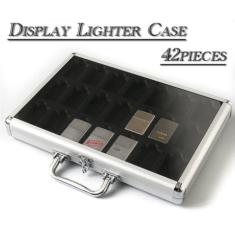 Zippo Lighter Display Collection Case Storage Case for 42 pieces