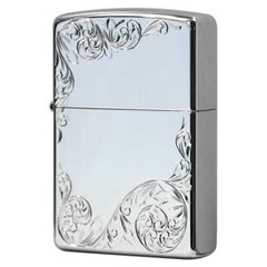 Zippo Zippo Hand Carving Arabesque Design Platinum Plating