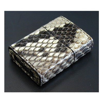 Zippo Lighter Genuine Python Snake Leather Wrapped