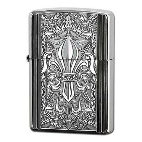 Zippo Lighter Crest of the Middle Ages - Silver Lily