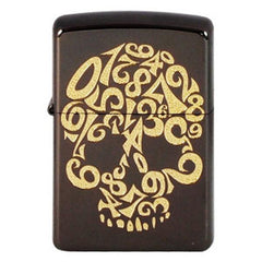 Zippo Lighter Gold Skull Number Black Nickel NMB-S2