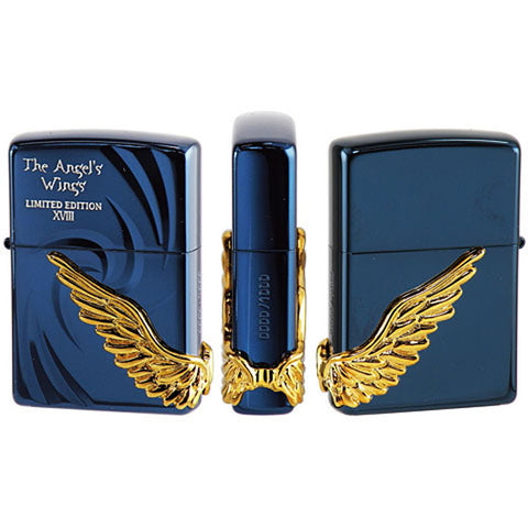 Armor Zippo Lighter Angel Wing 2018 model Limited Edition BL PAW-118BLG