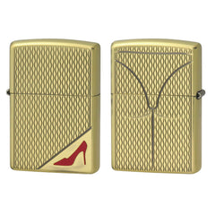 Zippo Lighter RED High Heels Brass Oxidized Both Sides Design