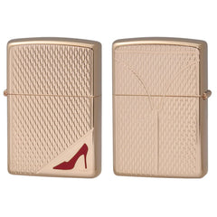 Zippo Lighter RED High Heels Rose Pink Both Sides Design