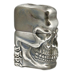 Zippo Lighter High Grade Delux 3D Skull Jacket Antique Silver A