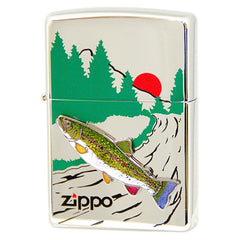 Zippo Lighter Freshwater fish Cloisonne Metal Rainbow trout