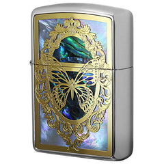 Armor Zippo Lighter Combi Shell Butterfly Both Sides Design B GF
