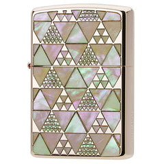 Zippo Lighter Natural Shell Inlay Both Sides Triangle Design 100 piece Limited model PK