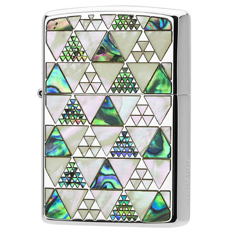 Zippo Lighter Natural Shell Inlay Both Sides Triangle Design 100 piece Limited model SV