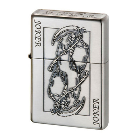Zippo Lighter Bottomz Up Playing cards JOKER Both Sides Japan Design
