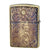 Armor Zippo Lighter Antique Floral Design C Brass Oxidized