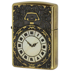 Armor Japan Zippo Lighter Shell Inlay Both Sides Design Watch BS2-81b