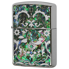 Armor Zippo Lighter Mosaic Natural Shell Inlay Both Sides Design DS-A