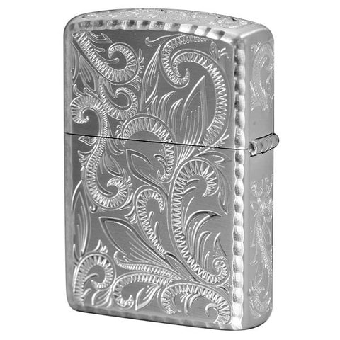 Armor Japan Zippo Lighter 5 sides Design Classic Arabesque Silver CLA-B