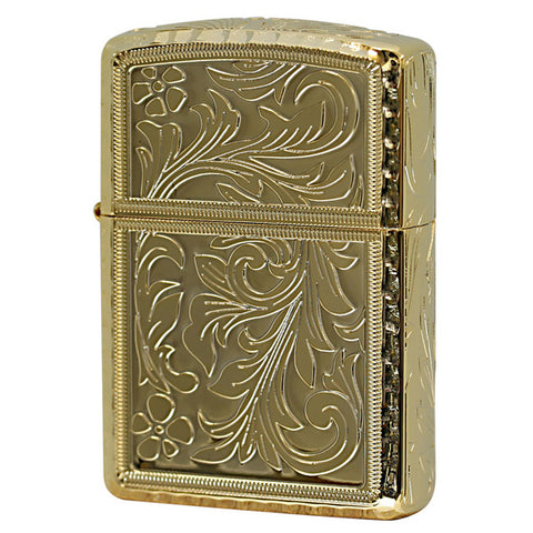 Armor King GD Zippo Lighter 5 sides Design Arabesque Corner Engraving