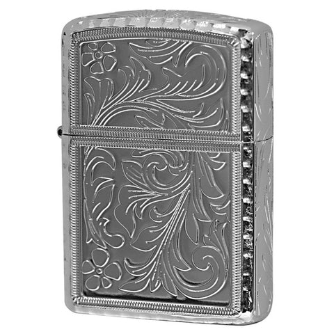 Armor King PT Zippo Lighter 5 sides Design Arabesque Corner Engraving