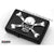 Zippo Lighter Bottomz Up 3D Cross Bone Skull Black