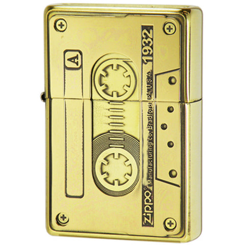 Zippo Lighter Bottomz Up Cassette Tape CST-BI