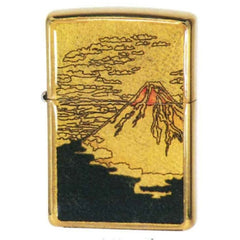 Zippo Lighter Japanese Art Ukiyo-e Design Mount Fuji Gold Leaf Epoxy