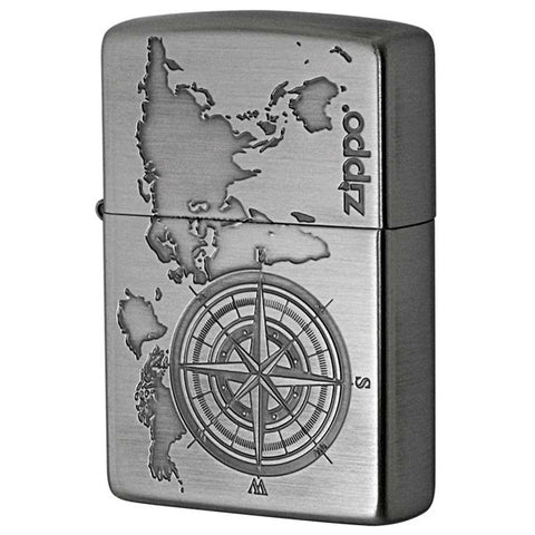 Zippo Lighter Treasure Map Compass design A