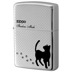 Zippo Lighter Mesh Cat Shadow Design 2-97a