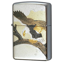 Zippo Lighter Electroformed sheet Hawk Old Japanese Design