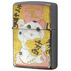 Zippo Lighter Electroformed sheet Lucky CAT Maneki-Neko