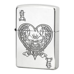 Zippo Lighter Ace of Heart Skull Playing Card Japan Design
