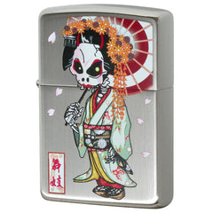 Zippo Lighter Dress up Skull Maiko
